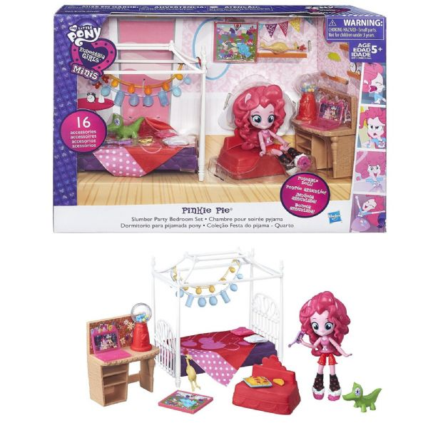 MLP My Little Pony Equestria Girls Pinkie Pie Slumber Party Bedroom Toy Set
